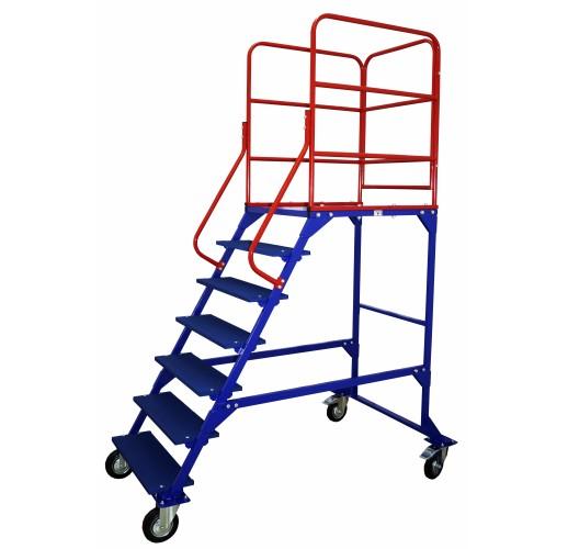 Лестница передвижная, шесть ступеней и один лестничный марш ЛР 6.1 RUSKLAD (без колес)
