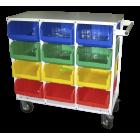Односторонний мобильный стеллаж с направляющими 300 кг Стелла V4-12 ячеек