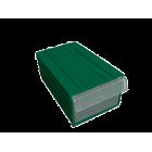 Пластиковый короб С-2 зеленый/прозрачный