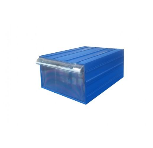 Пластиковый короб С-501-А  синий/прозрачный