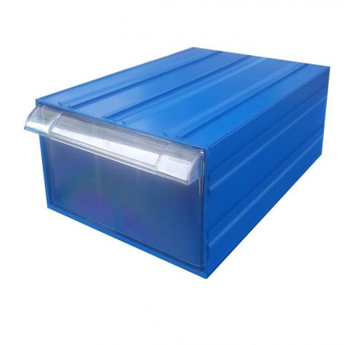 Пластиковый короб Стелла С-510 синий/прозрачный