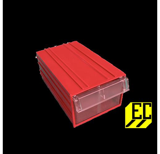 Пластиковый короб С-2 красный/прозрачный