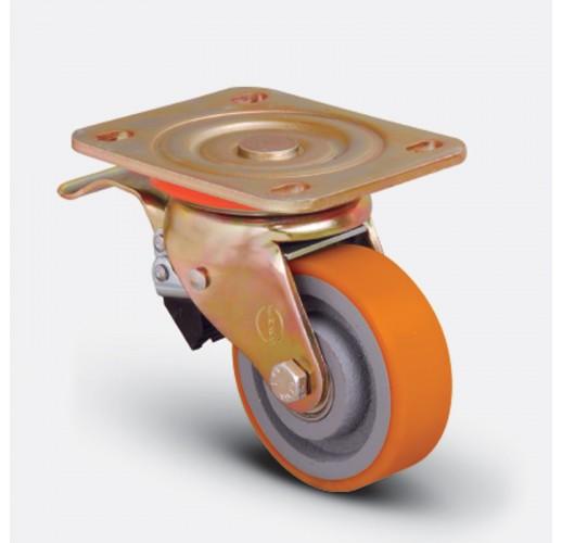 Колесо большегрузное полиуретановое поворотное ED01 VBP 80 F