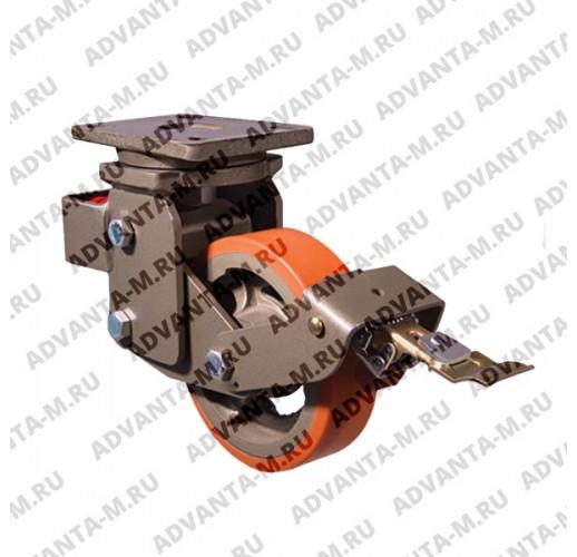 Большегрузное поворотное полиуретановое колесо EVY01 VBP 300 F