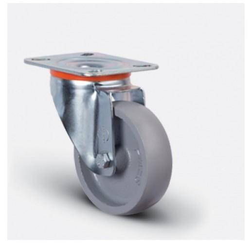 Колесо термостойкое поворотное чугунное EM01 VKV 80