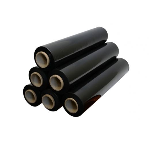 Чёрный Стрейч 500 мм. 20 мкм.*300м (упаковка 6 штук)