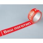 Клейкая лента (скотч) прозрачная с логотипом (1 цвет) 48мм*66м*45мкм  (Упаковка 36 шт.)
