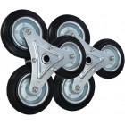 Комплект колес для лестничной тележки — 2 блока по 3 колеса диаметром 160мм