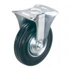FC 63 колесо 160 мм неповоротное 160 мм черная резина (опора неповоротная)
