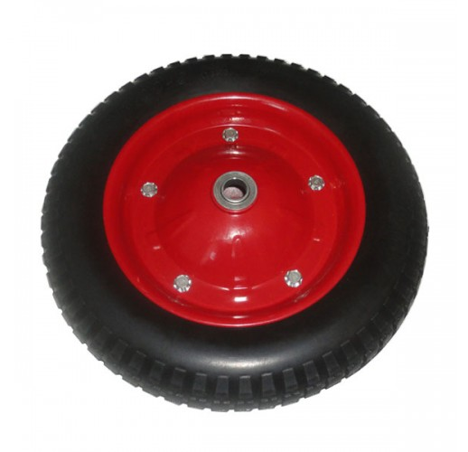 PR 2400 колесо 350 мм пневматическое стальной диск ось 16 мм