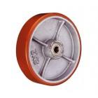 P 85 колесо 250 мм большегрузное  чугунное полиуритановый обод без кронштейна