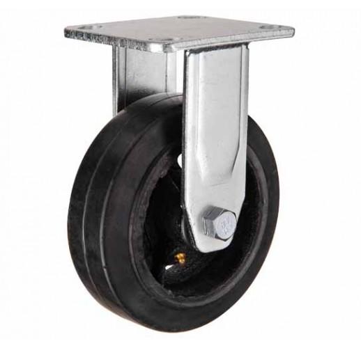 FCd 63 колесо 160 мм неповоротное большегрузное  чугунное обрезиненное (опора неповоротная)