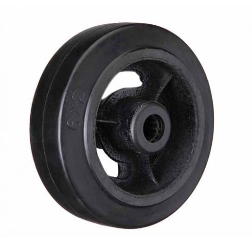 D 54 колесо 125 мм большегрузное чугунное обрезиненое без кронштейна
