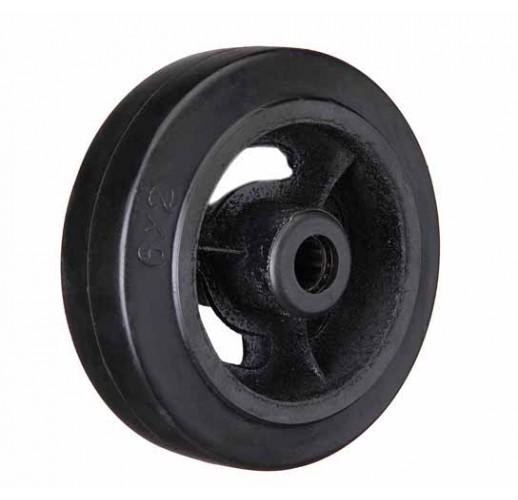 D 46 колесо 100 мм большегрузное чугунное обрезиненое без кронштейна