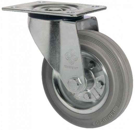SCg 55 колесо поворотное 125 мм серая резина (опора поворотная)