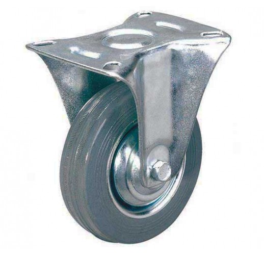 FCg 54 колесо неповоротное 125 мм серая резина (опора неповоротная)