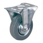 FCg 46 колесо неповоротное 100 мм серая резина (опора неповоротная)