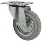 SCg 42 колесо поворотное 100 мм серая резина (опора поворотная)
