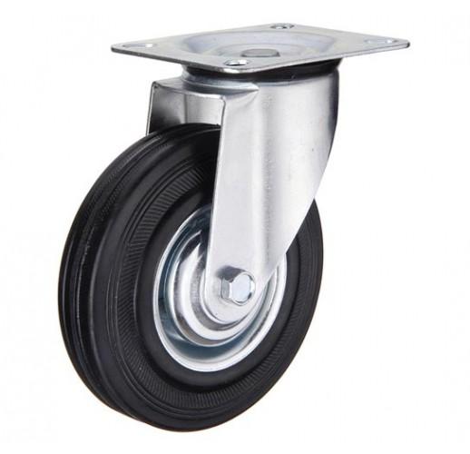 SC 93 колесо поворотное 75 мм черная резина (опора поворотная)